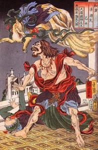 Bereits der arme Prinz Hanzoku wurde schon vor hunderten von Jahre von einem neunschwänzigen Fuchs heimgesucht