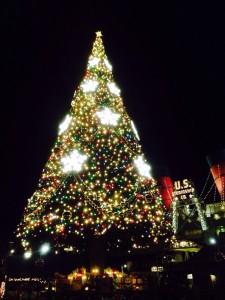 Weihnachtsbaum in Disney Sea - etwas du nur in Japan sehen kannst.