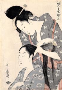 Holzschnitt von Kitagawa Utamaro