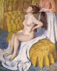 Ähnliche Motivwahl auch bei Degas.