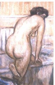 """Edgar Degas - """"Das Bad"""". Deutlich spürbar ist der Einfluss von Utamaro"""