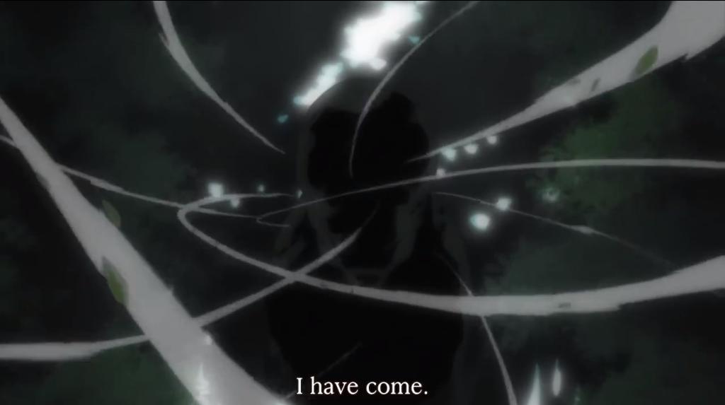 """In dem Anime """"natsume yuujinchou"""" erscheint ein sehr düsterer Youkai. """"I have come"""" sagt er im Englischen zur Begrüßung - wer hätte gedacht, dass er im japanischen Original """"mairimashita"""" verwendet und damit ein hohes Maß an Respekt bezeugt?"""